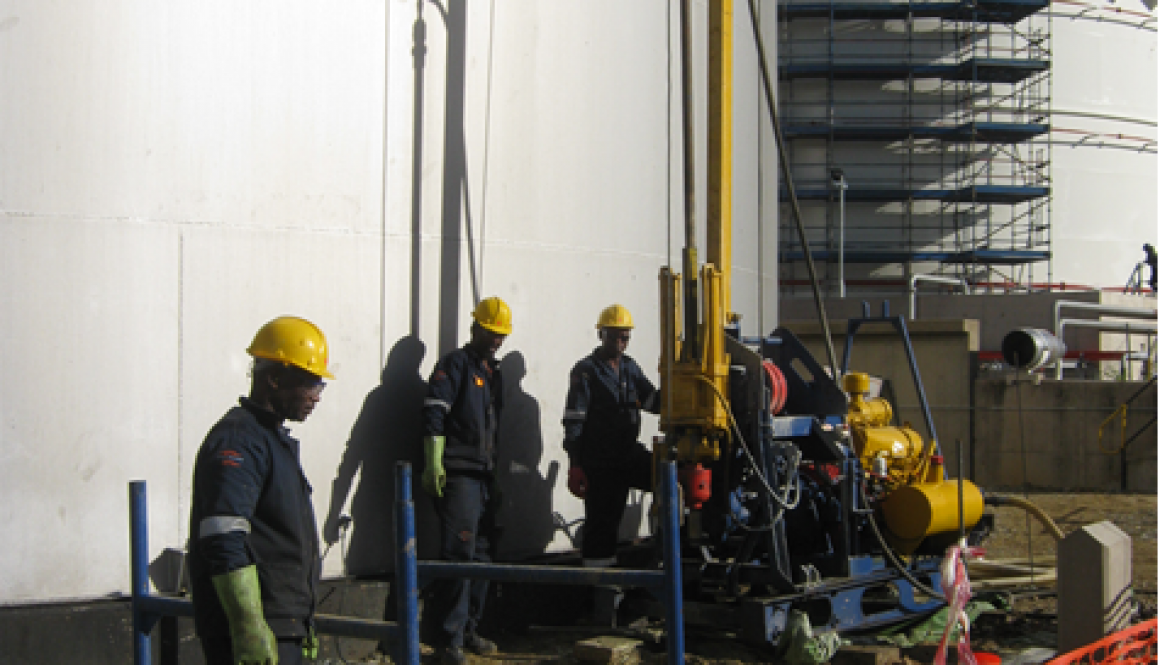 Shell petrol depot Geotechnical drilling